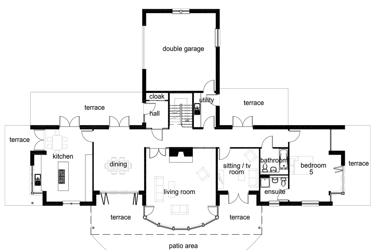 Coopers Knowe House floor plan Ground floor